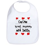 Carina Loves Mommy and Daddy Bib