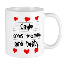 Cayla Loves Mommy and Daddy Small Mug