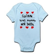 Corinne Loves Mommy and Daddy Infant Bodysuit