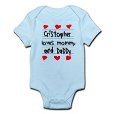 Cristopher Loves Mommy and Daddy Infant Bodysuit