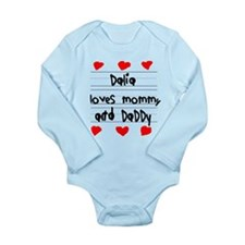 Dalia Loves Mommy and Daddy Onesie Romper Suit