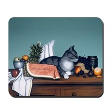 "Still Life with Watermelon"" Mousepad"