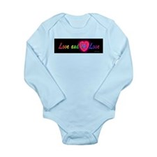Love and let love cursive Long Sleeve Infant Bodys
