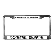 Happiness is Donetsk License Plate Frame