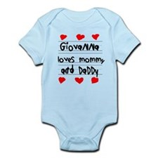 Giovanna Loves Mommy and Daddy Infant Bodysuit