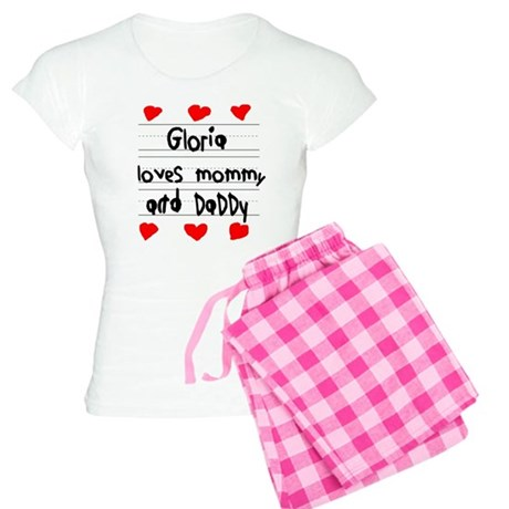 Gloria Loves Mommy and Daddy Women's Light Pajamas