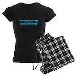 ADHD ADD Funny Quote Women's Dark Pajamas