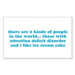 ADHD ADD Funny Quote Sticker (Rectangle 50 pk)