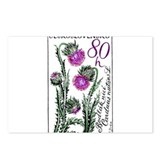 1964 Czechoslovakia Thistle Postage Stamp Postcard