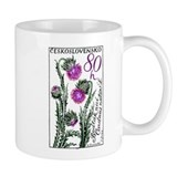 1964 Czechoslovakia Thistle Postage Stamp Small Mug