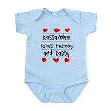 Kassandra Loves Mommy and Daddy Onesie