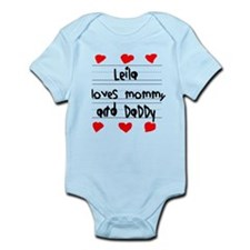 Leila Loves Mommy and Daddy Infant Bodysuit