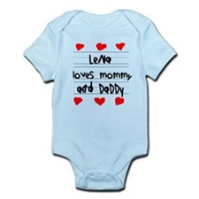 Lena Loves Mommy and Daddy Infant Bodysuit