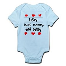Lesley Loves Mommy and Daddy Infant Bodysuit