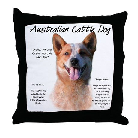 ACD (red speckle) Throw Pillow