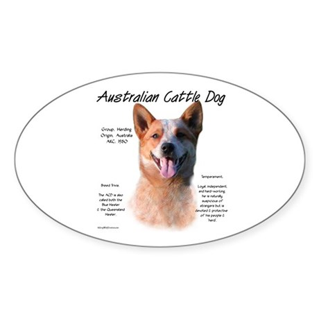 ACD (red speckle) Oval Sticker