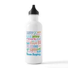 Team Roping Water Bottle