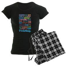 Twirling pajamas
