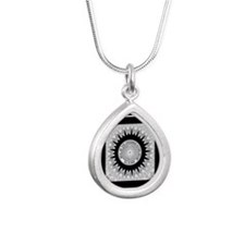 Cherokee Nation.png Silver Teardrop Necklace