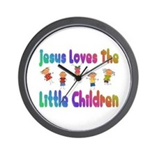 Kids Jesus Loves Wall Clock