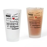Nurse Pride with Red Heart Drinking Glass