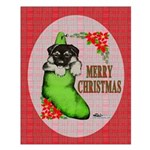 Merry Christmas Puppy Small Poster