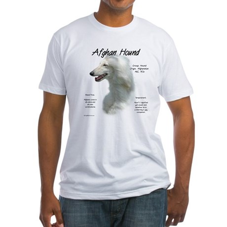 Afghan (white) Fitted T-Shirt