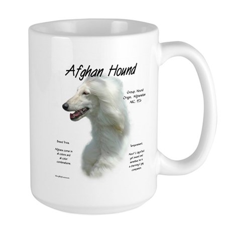 Afghan (white) Large Mug