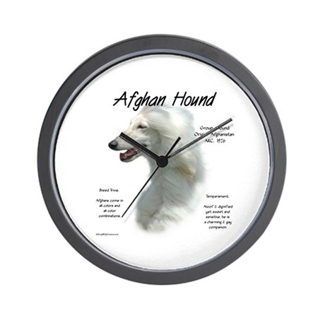 Afghan (white) Wall Clock