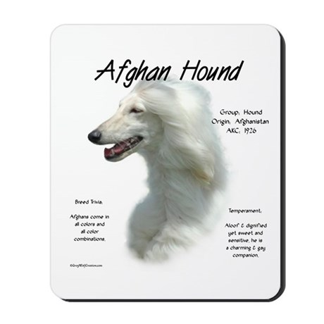 Afghan (white) Mousepad
