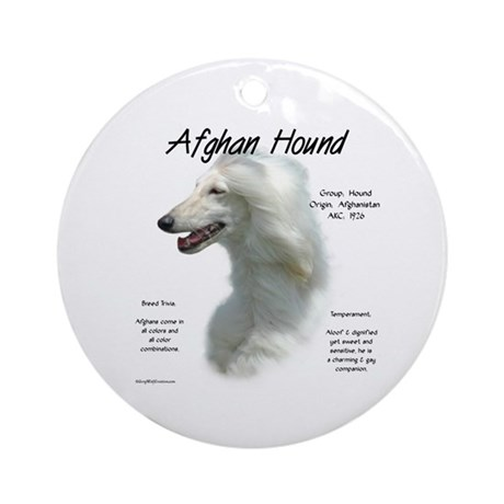 Afghan (white) Ornament (Round)