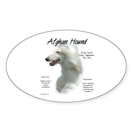 Afghan (white) Oval Sticker