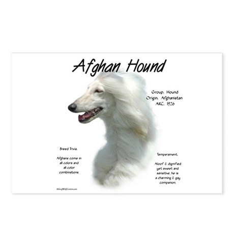 Afghan (white) Postcards (Package of 8)
