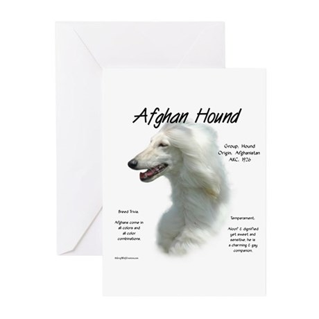 Afghan (white) Greeting Cards (Pk of 10)