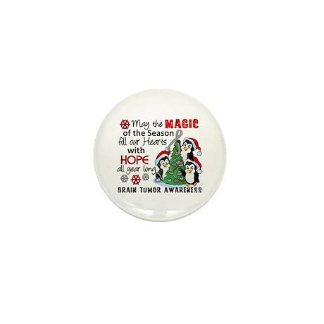 Holiday Penguins Brain Tumor Mini Button (100 pack