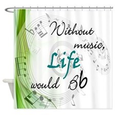 without music2.jpg Shower Curtain