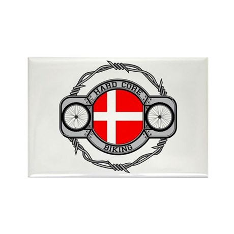 Denmark Biking Rectangle Magnet (10 pack)