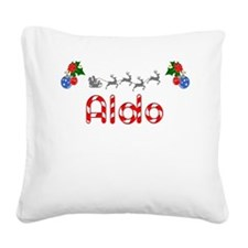 Aldo, Christmas Square Canvas Pillow