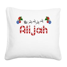 Alijah, Christmas Square Canvas Pillow