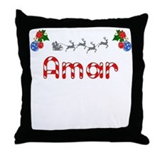 Amar, Christmas Throw Pillow