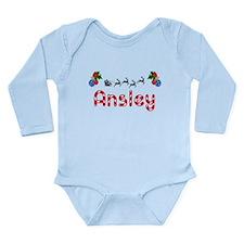 Ansley, Christmas Long Sleeve Infant Bodysuit