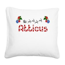Atticus, Christmas Square Canvas Pillow