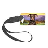 Doberman Meadow Luggage Tag