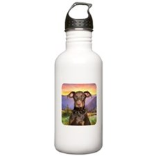 Doberman Meadow Water Bottle