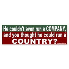 Can't run a Country Bumper Sticker