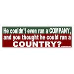 Can't run a Country Bumper Sticker