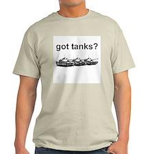 got tanks? Ash Grey T-Shirt