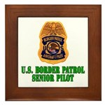 Border Patrol Pilot Framed Tile