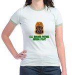 Border Patrol Pilot Jr. Ringer T-Shirt