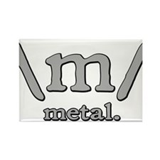 M FOR METAL Rectangle Magnet
